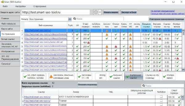 Smart SEO Auditor программа для анализа сайта